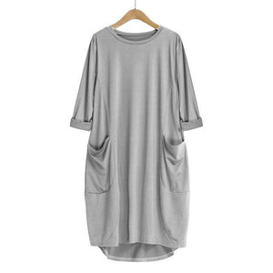 brandnewer - Women's deep pocket casual dress