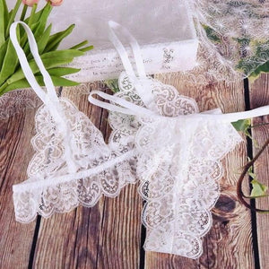 brandnewer - Sexy Lace Transparent Bra and Panty Seamless Lingerie set