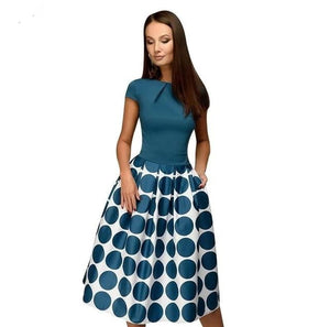brandnewer - Patchwork A-line Women's Party Dress