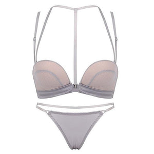 brandnewer - 3/4 Cup Push Up Front Closure Lingerie Set