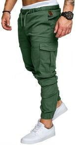 brandnewer - Khaki comfortable trousers for everyday wear