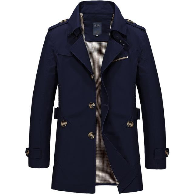 Smart Men's Trench Coat