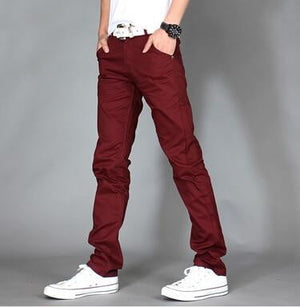 brandnewer - Comfortable Casual Cotton Slim Straight Trousers