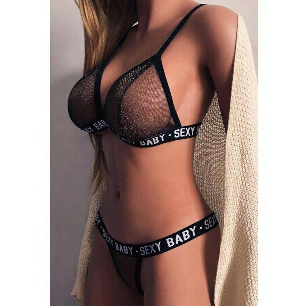 Sexy Baby Glitter Bra and G-String sets