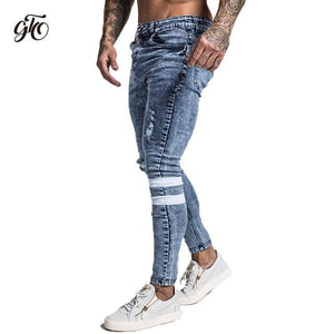 brandnewer - Mens Slim Fit Ripped Jeans