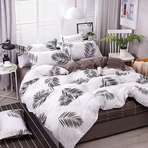 brandnewer - New Leaves Printing High Quality Duvet Cover Bed Sheet