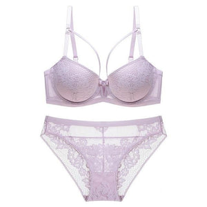 brandnewer - Embroidery Push-Up Lingerie
