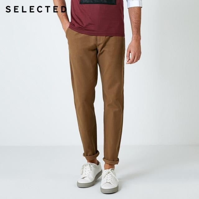 brandnewer - Men's Cotton Solid Color Micro-Elastic Business Pants