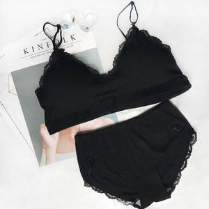 brandnewer - Cotton Lingerie Wireless Lingerie