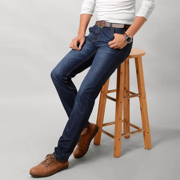 brandnewer - Thin stretch retro summer men's jeans