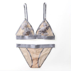 brandnewer - 3/4 Cup Wire Free Thin Breathable Comfortable intimates