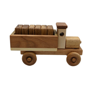 Wooden Cargo Truck Toy with Blocks