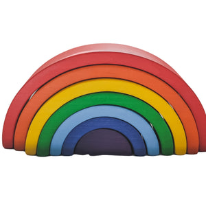 Wooden Rainbow Stacker | Primary Colors