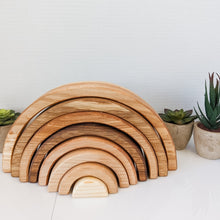 Load image into Gallery viewer, Wooden Rainbow Stacker | Natural