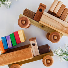 Load image into Gallery viewer, Wooden Cargo Truck Toy with Blocks
