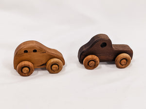Small Wooden Car and Truck Toys | 2 Piece Set