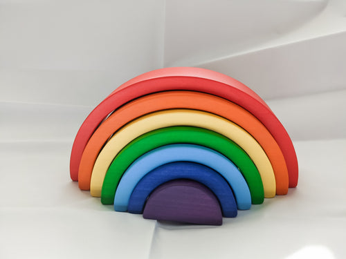 Wooden Rainbow Stacker | Classic Colors