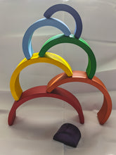 Load image into Gallery viewer, Wooden Rainbow Stacker | Primary Colors