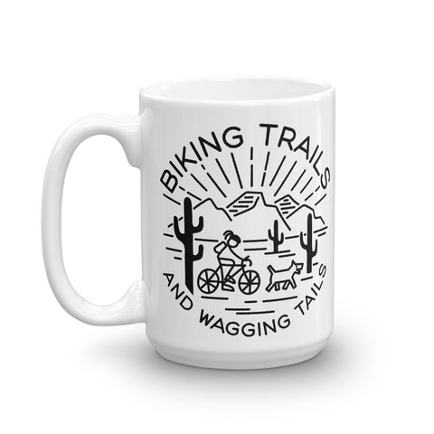 Biking Trails and Wagging Tails Mug