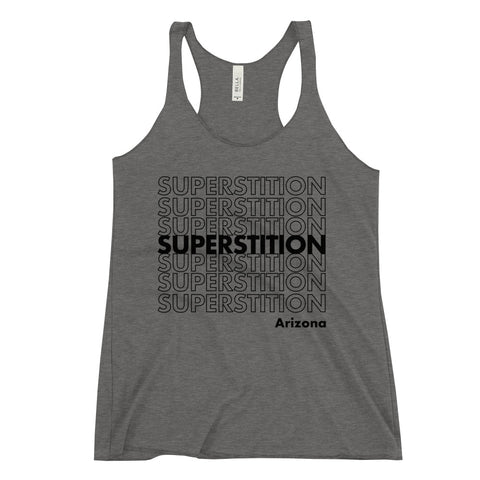 Superstition Mtns. Racerback Tank (BLK)