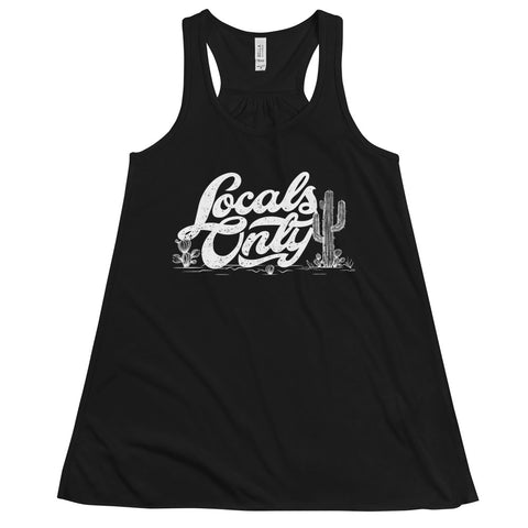 Locals Only Flowy Racerback Tank (White Font)