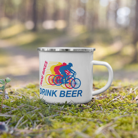 Ride Bikes Drink Beer Camping Mug