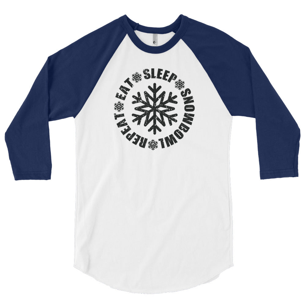 Eat Sleep Snowbowl Repeat 3/4 Sleeve