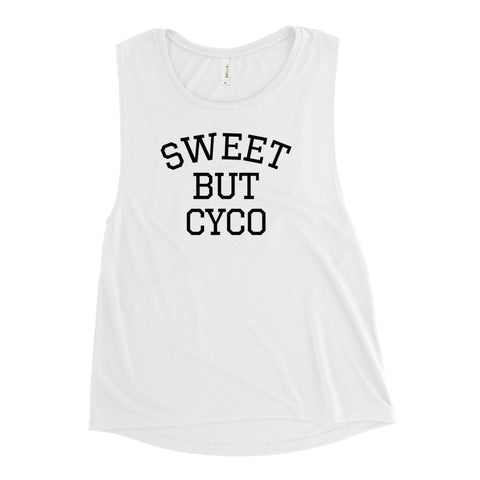 Sweet But Cyco Ladies' Muscle Tank (Dark)