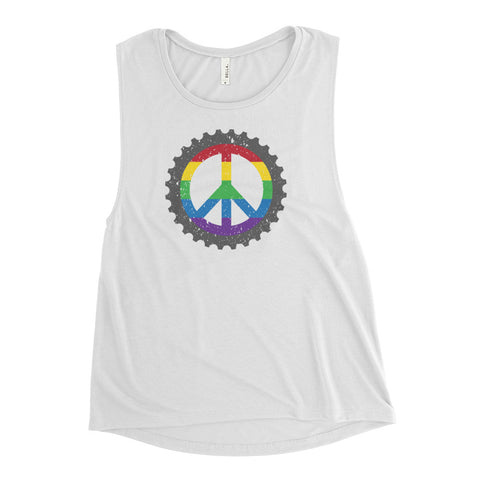 Love Wins Ladies' Muscle Tank