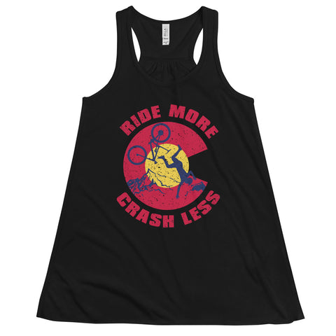 Ride More Crash Less Women's Flowy Racerback Tank