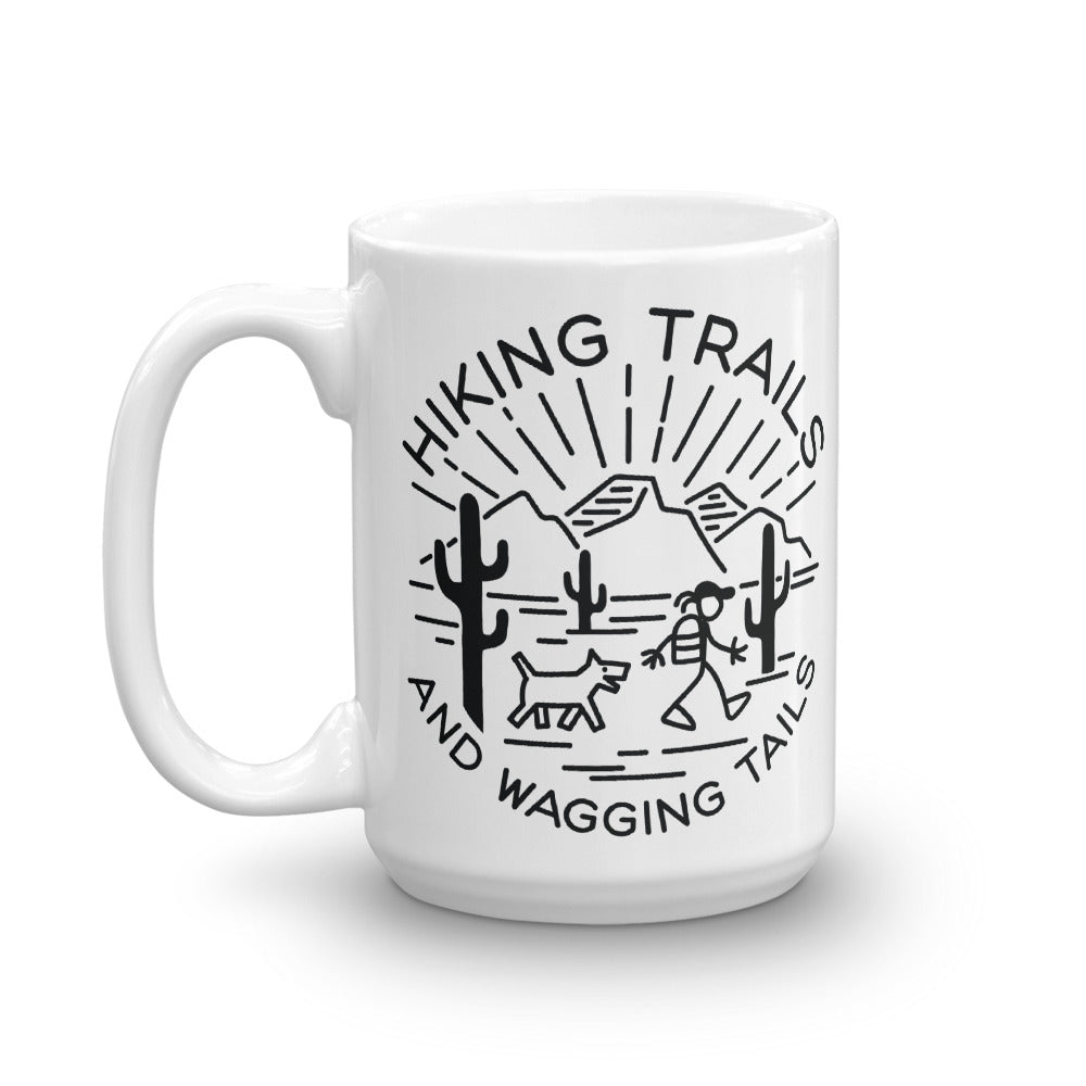 Hiking Trails and Wagging Tails Mug