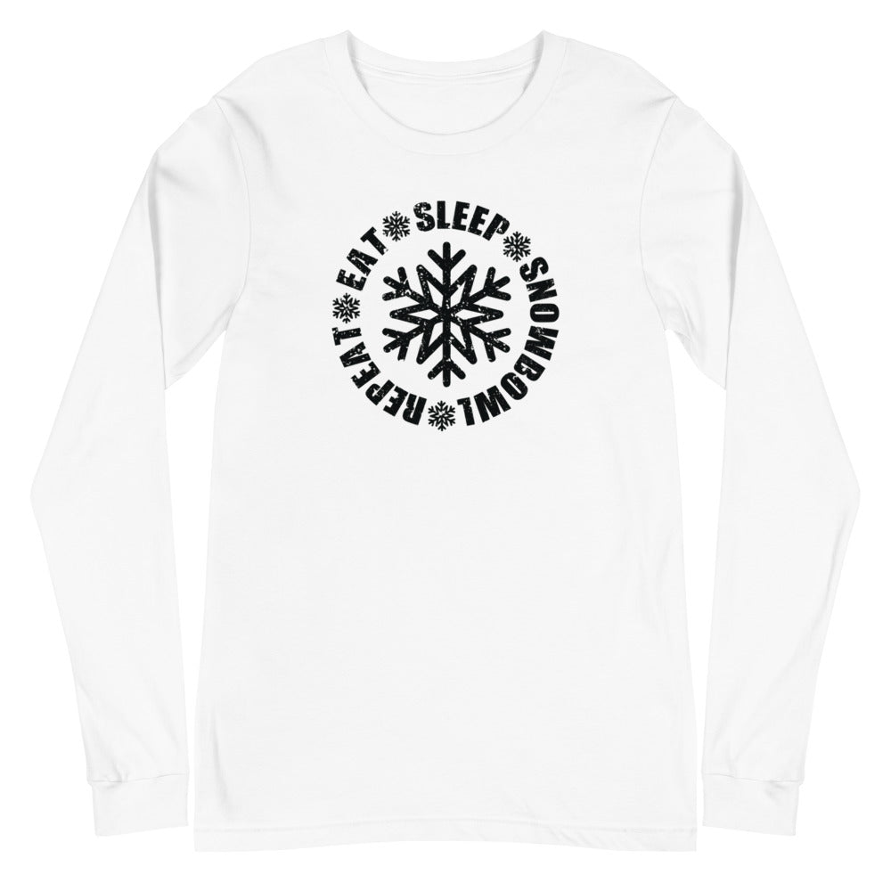 Eat Sleep Snowbowl Repeat Long Sleeve