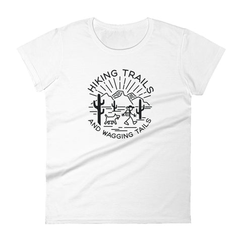 Hiking Trails and Wagging Tails Women's short sleeve t-shirt