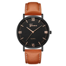 Load image into Gallery viewer, Handsome mens executive fashion watch with military quartz movement.  Reloj para hombre elegante, ejecutivo con movimiento militar de cuarzo.de
