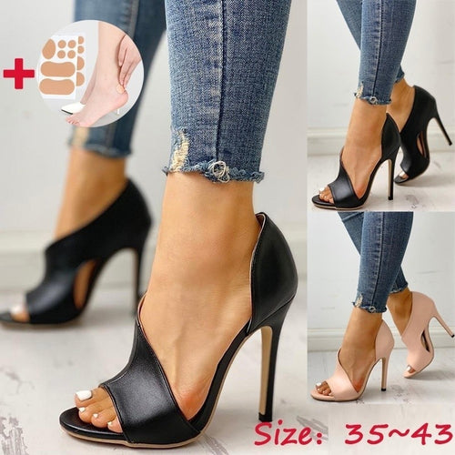 Ladies fashion high heel open toe hollow out style. Sandalia semi-destapada de tacón alta.