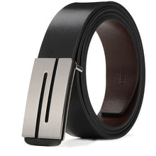 Load image into Gallery viewer, Men's designer's high quality cowhide leather fashion belt alloy business style pin buckle