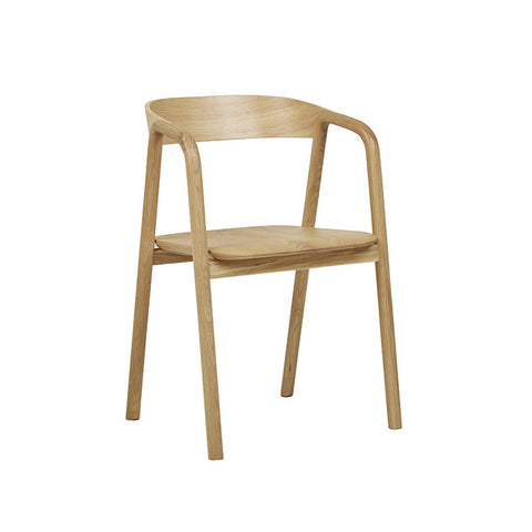 Tolv Inlay Arm Chair - Light Oak