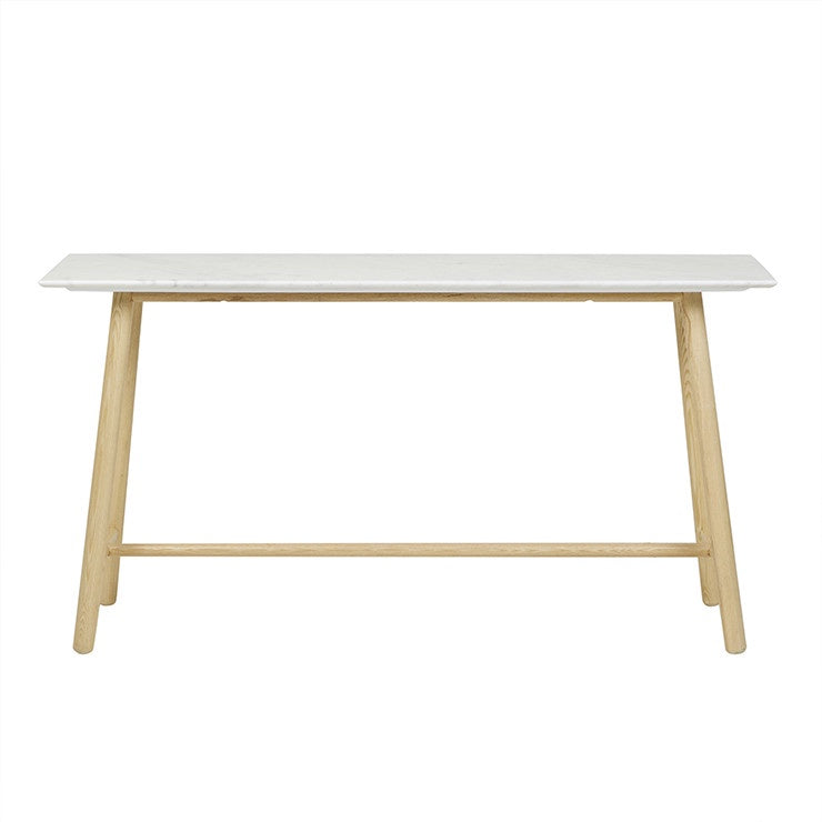 Sloan Marble Tri Console Table - Light