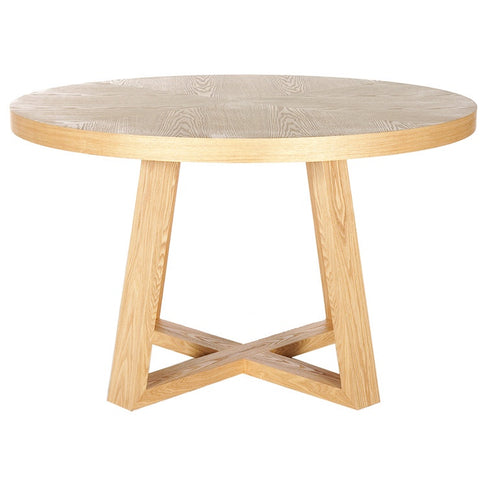 Ascot Round Dining Table - Natural