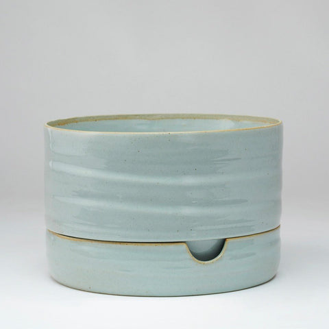 Self Watering Plant Pot Mid - Grey Crackle