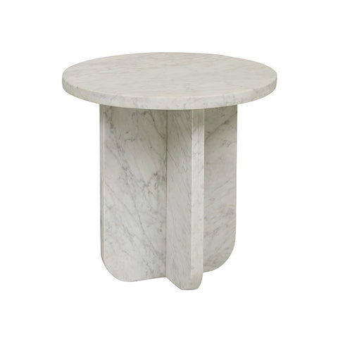 Amara Curve Side Table - White