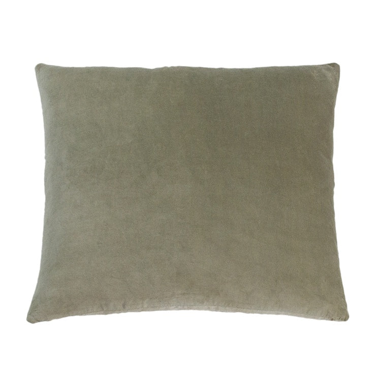 Essential Velvet Cushion - Stone