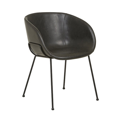 Duke Arm Chair - Vintage Black