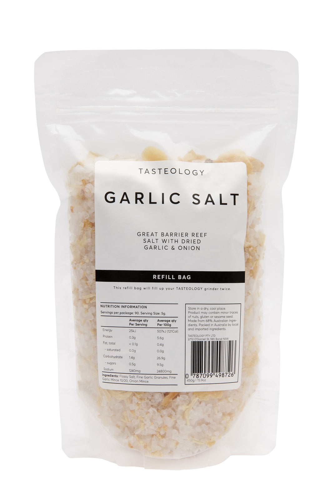Garlic and Onion Salt by Tasteology Refill Pack