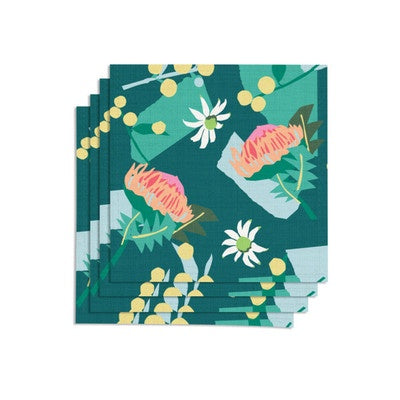 Leah Bartholomew Cotton Napkins - Green
