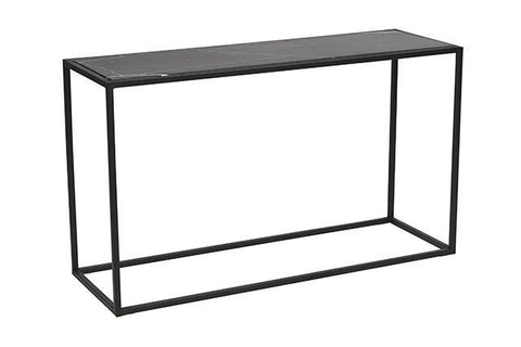 Elle Cube Marble Console Table- Black - Established for Design