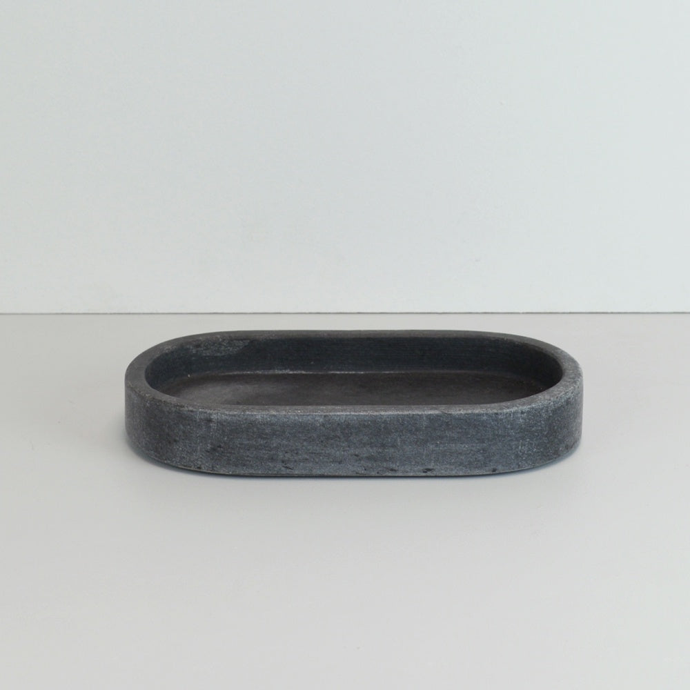 Oval Marble Tray - Grey