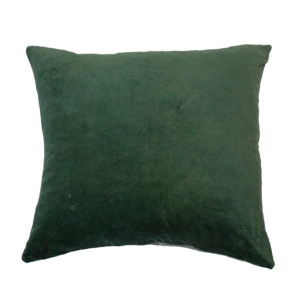 Essential Velvet Cushion - Fern
