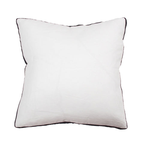 Essential Linen Cushion - Milk/Black
