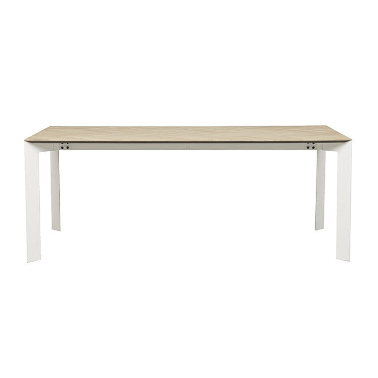 Henley Chevron Dining Table - Natural/White